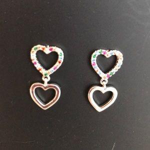 9.25 silver earrings Swarovski crystals